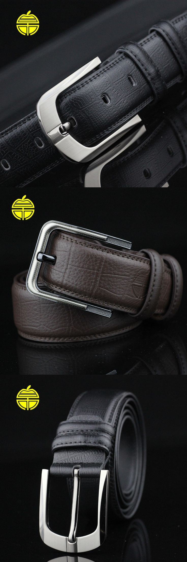 2016 new man black belt with pin belt buckle male boss strap luxury cowskin riemen high quality formal wedding kemer wholesale