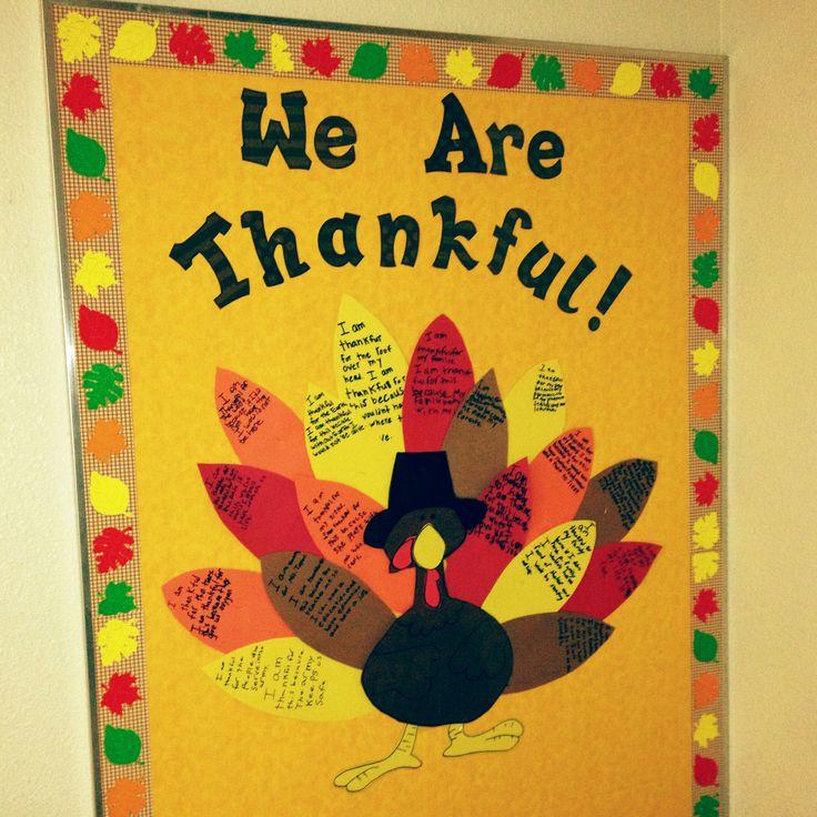 Classroom Ideas For November : November thanksgiving bulletin board we wrote the