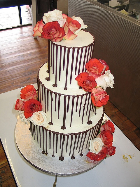 Chocolate Drizzle Wedding Cake
