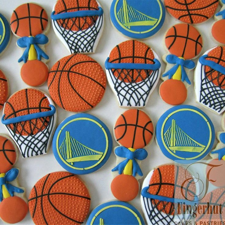 Basketball baby shower for a Golden State fan!