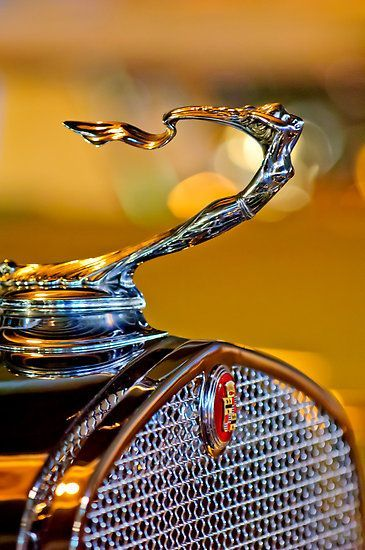 1930 Cadillac V-16 Roadster & Goddess Hood Ornament #car #auto