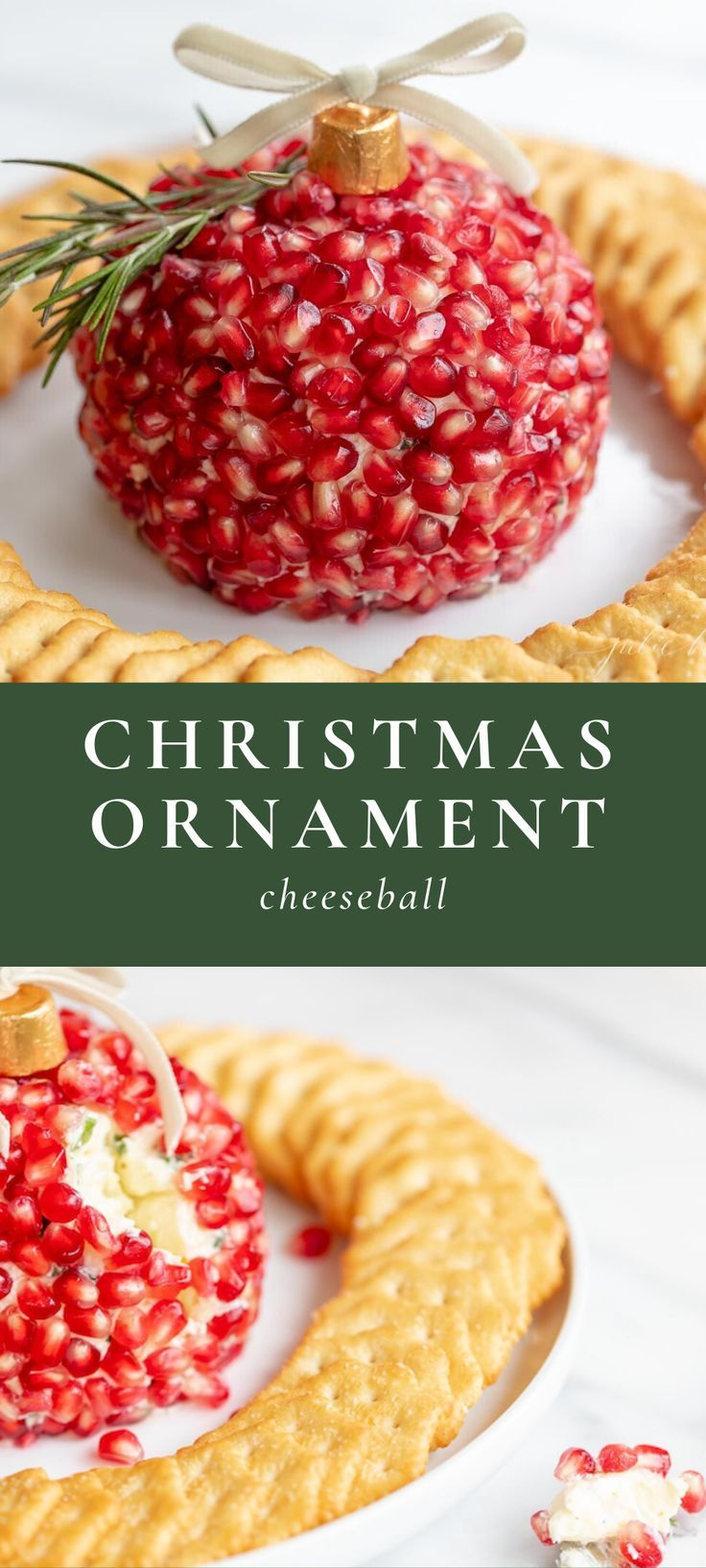 Ornament Cheeseball The Cutest Pomegranate Christmas Cheese Ball Cheese Ball Recipes Cheese Ball Christmas Appetizers
