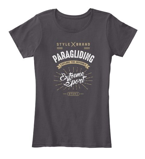 Paragliding T Shirt Heathered Charcoal  T-Shirt Front