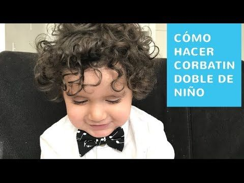 CÓMO HACER CORBATÍN DOBLE DE NIÑO -❤️ Tutorial Ropa Modesta - YouTube