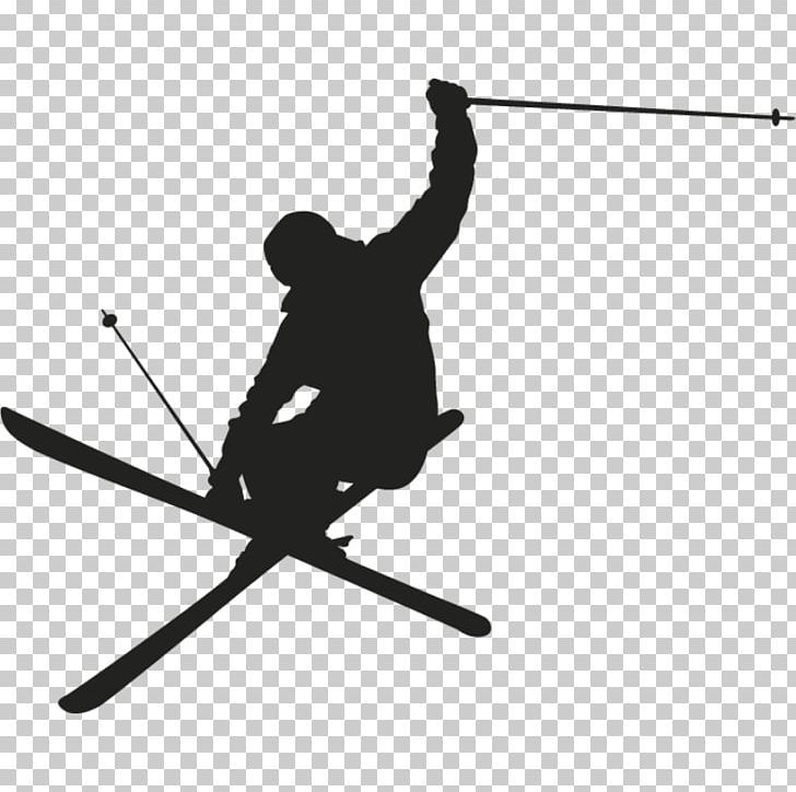 Skiing Silhouette Wall Decal Png Alpine Skiing Angle Black And White Decal Freestyle Skiing Ski Print Skiing Silhouette