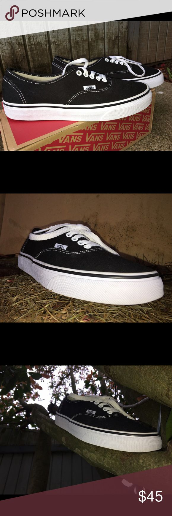 Vans authentic Black and white vans basic silhouette. Size 8 in women's size 9.5. have been used twice. Vans Shoes Sneakers
