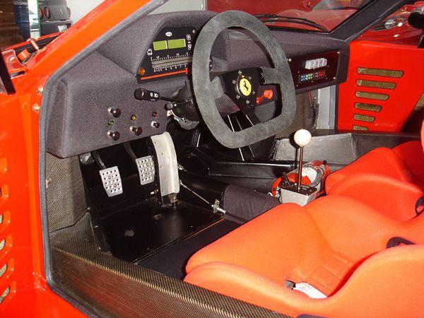 Ferrari F40 LM Competizione interior digital dash closeup