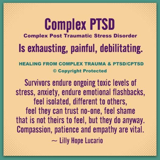 Complex trauma is still a relatively new field of psychology. Complex Post Traumatic Stress Disorder, results from enduring complex trauma. Complex trauma is ongoing or repeated interpersonal traum…