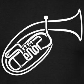 #Tenorhorn   m o-m e n t Musik T-Shirts