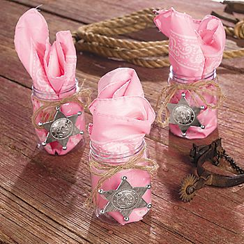 Pink Cowgirl Favors... Maybe cute centerpiece ideas