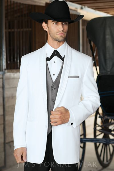 El Rey White Western Tuxedo // Jim's Formal Wear Helpful ...