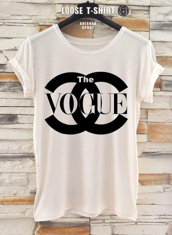 chanel fashion  tshirt/white/black tshirt /   by ANISHARsport, $19.90