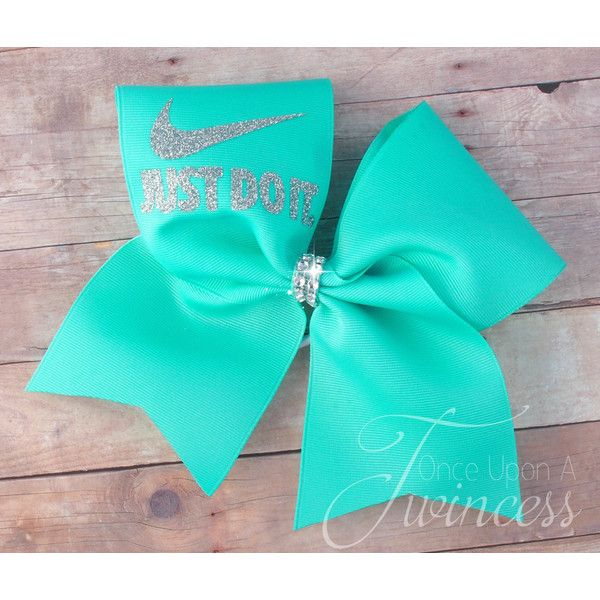 Cheer Bow Aqua Cheer Bow Cheerleading Bows Dance Bow Softball Bow... ($9.95) ❤ liked on Polyvore featuring accessories, grey and hair accessories
