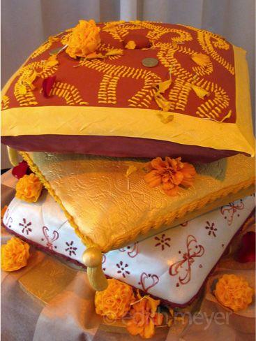 Indian pillow wedding cakes