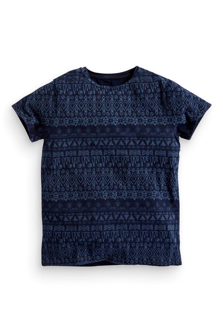 Buy Indigo Print T-Shirt (3-16yrs) online today at Next: United States of America
