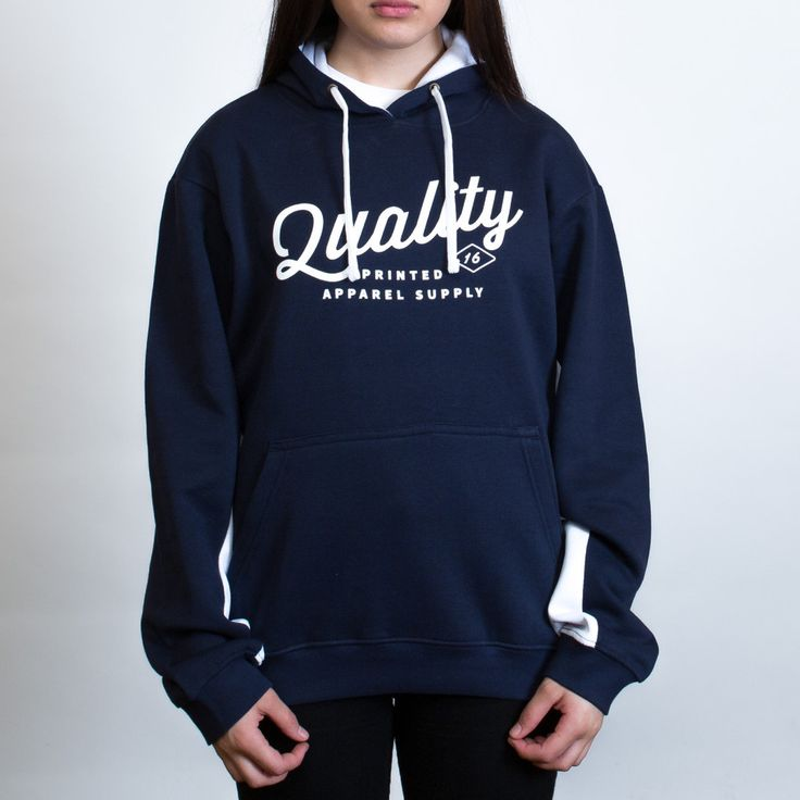 Aurora Matchpace Hoodie Leavers Gear - The Print Room NZ - Navy/White