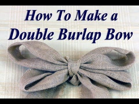 How to Make a Big Burlap Bow