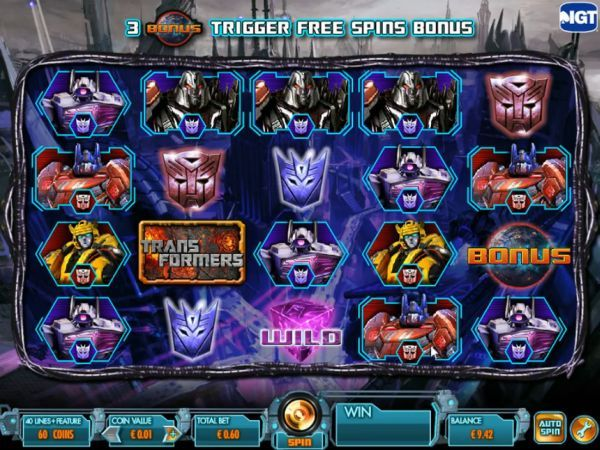 Transformers Battle for Cybertron online slot machine by IGT.