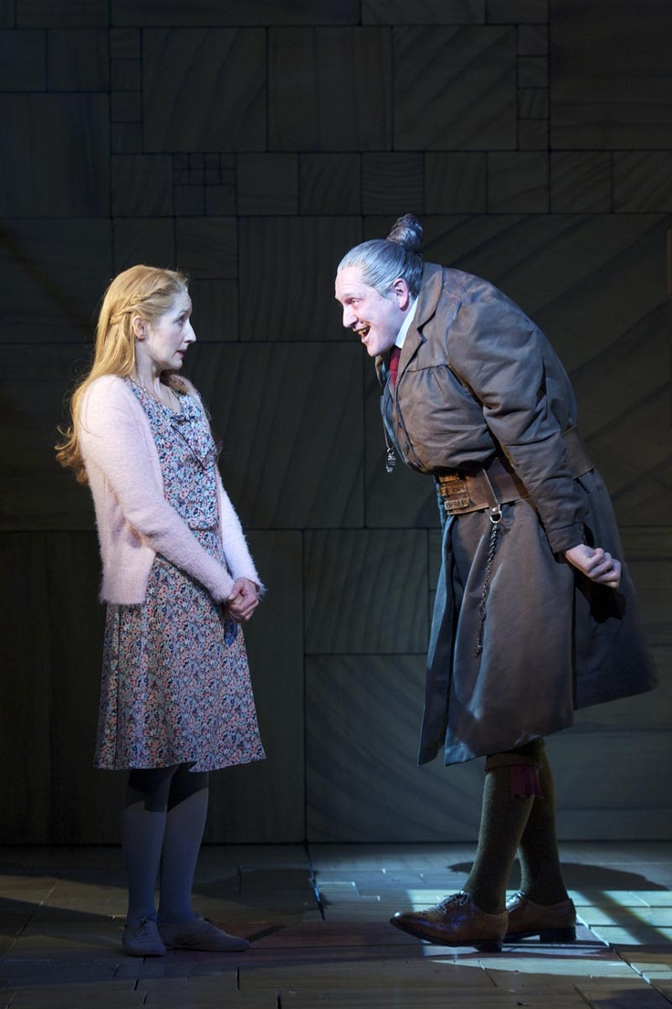 Matilda the Musical - Miss Honey and Miss Trunchbull.  Miss Trunchbull looks mean