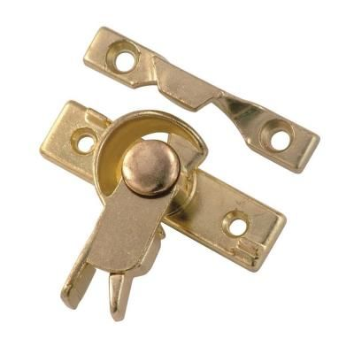First Watch Security Cam Action Polished Brass Safety Sash Window Lock-1427 - The Home Depot