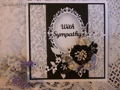 Handcrafted by Helen: Two variations of Sympathy Card