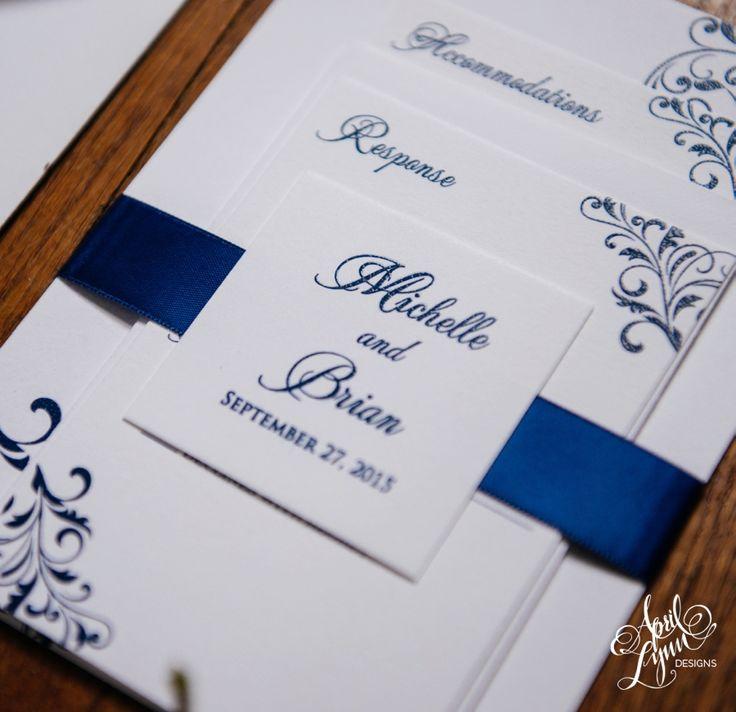 Michelle + Brianu0027s Flourish Wedding Invitation Suite | April Lynn Designs |  Custom Stationery + Design