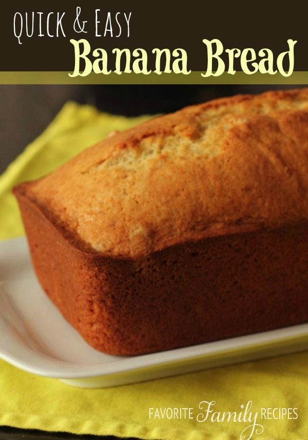 I try to keep everyone from eating all the bananas so a few can get overly ripe to make this easy, homemade bread!