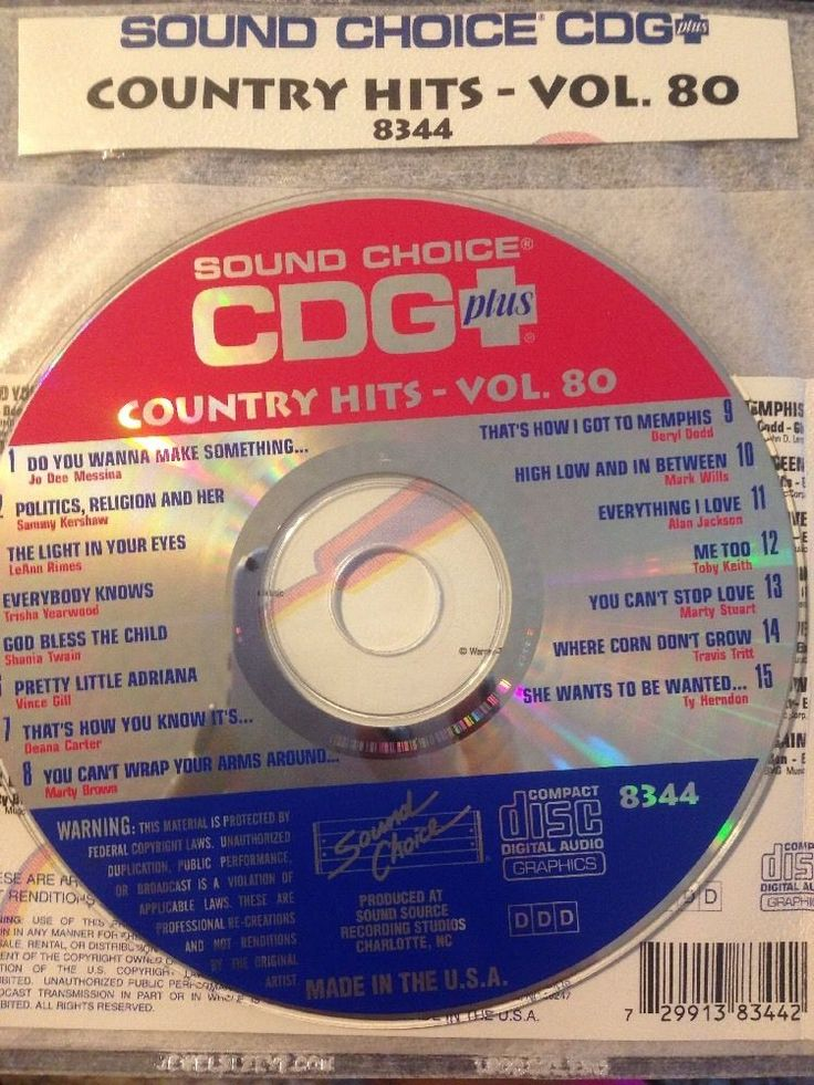 Sound Choice CDG Laser Disc Karaoke #8344 Country Hits Volume #80 #SoundChoice