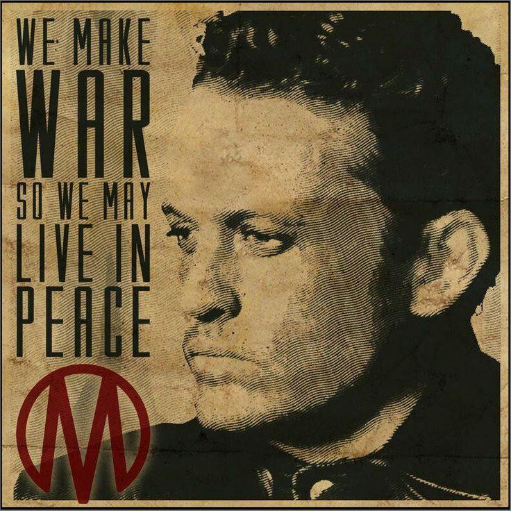 Revolution TV Show monroe republic   nbc revolution we make war so we may live in peace # monroe revolution