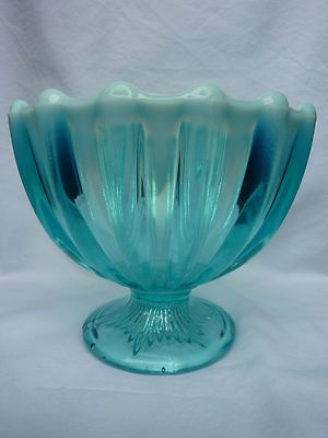 george davidson blue pearline pressed glass bowl 1889