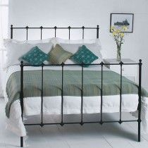 Perth Cast Bed - Queen Size Satin Black