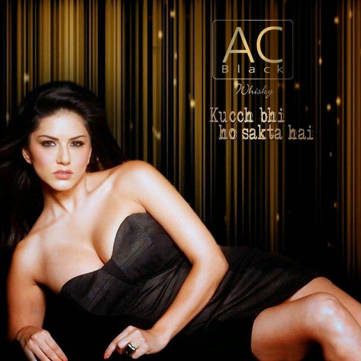 Sunny Leone AC Black Whisky Hot Photoshoot Images