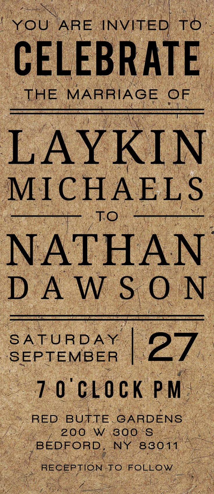 Michaels crafts wedding invitations - The Classic Craft Wedding Invitations Offers A Rustic Feel With Modern Style