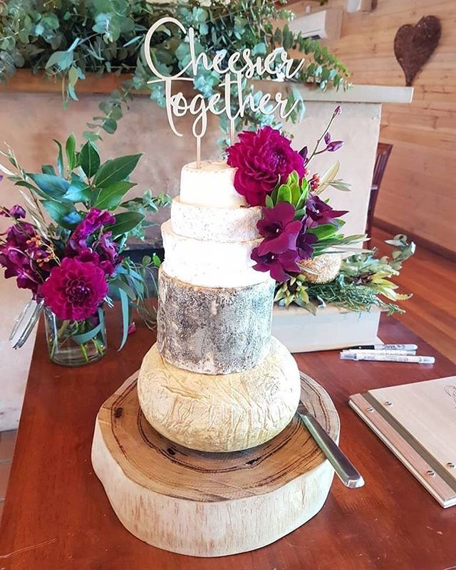 Well....how beautiful is this? Our Be My Wyfe Tower looking just stunning at the wedding of the lovely @trannners and @samuelcheese at @yarravalleyestate BIG congrats guys #chessiertogether