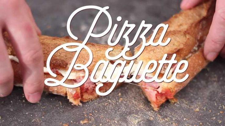 Pizza tressée au bacon, oignons, poivron et origan