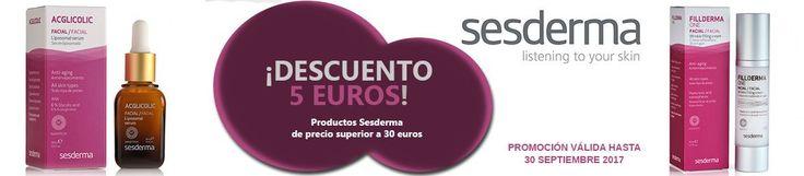 #PROMOCIÓN: Compra un producto @sesderma  de más de 30 euros y ¡consigue un #descuento de 5 euros!