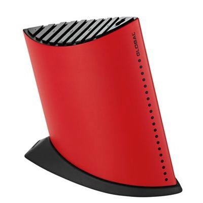 Global Knife Block, Ship Shape 10 Slot - Red