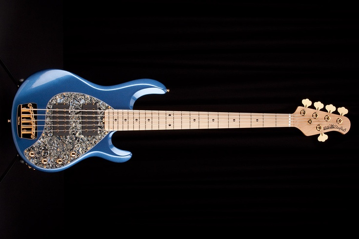 Music man stingray 5 hh electric pace car blue basses guitars blue