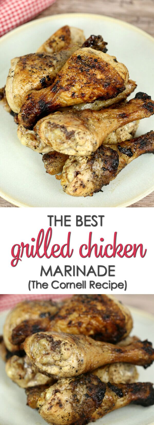 The Best Grilled Chicken Marinade -  1 egg 1 cup vegetable oil 1 cups cider vinegar 2 tablespoons salt 1 tablespoon poultry seasoning 1/2 teaspoon ground black pepper 12 chicken legs