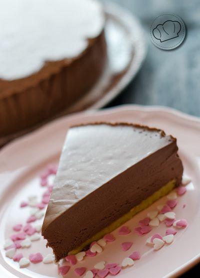 receta de tarta semifría de chocolate // chocolate semifredo (recipe in es)