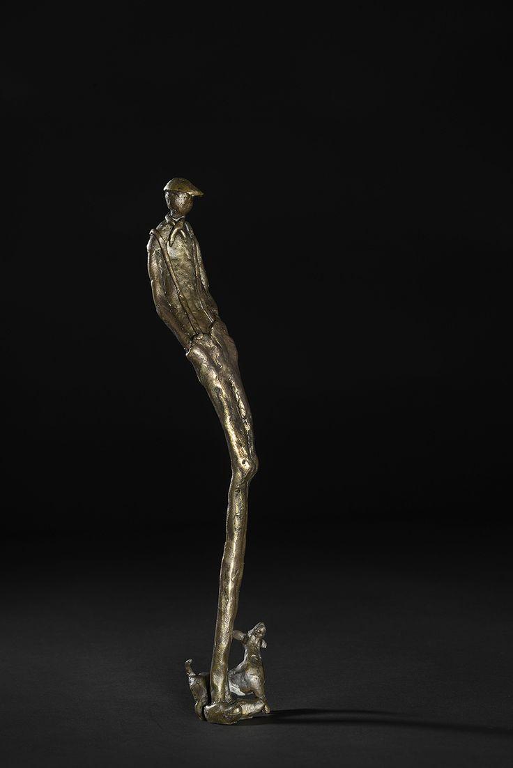 #Brons #beeld '#Slungel' van Ton Langbroek is te koop via #Kunstmarktplaats.nl.  http://kunstmarktplaats.nl/ads/eigenzinnige-bronzen-beelden/ #kunst #art