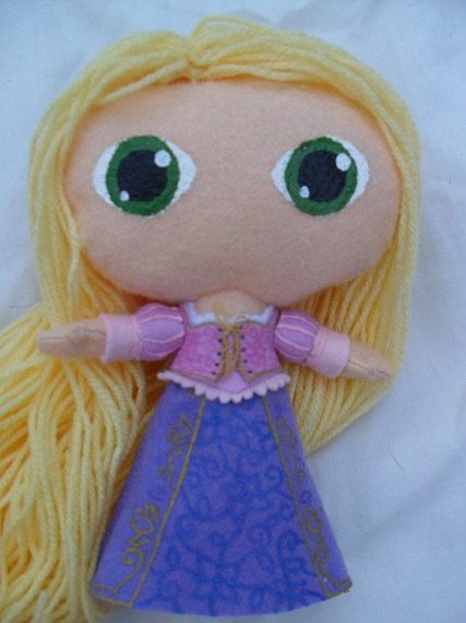 Cute felt doll Disney Princess Rapunzel by KurageNeko on Etsy, $20.00