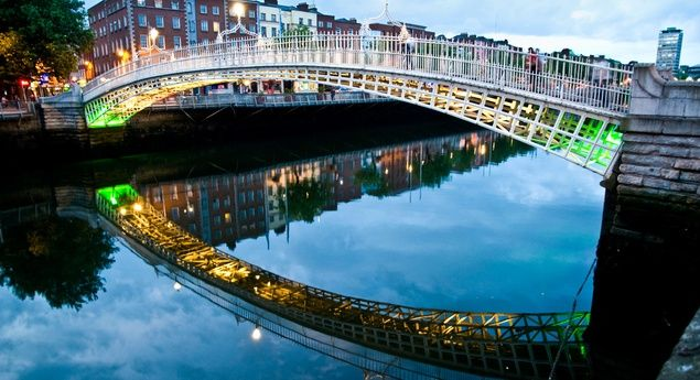 Dublin is home to literary sites such as the Abbey Theatre, Trinity College (where the Book of Kells is displayed), and Davy Byrnes Pub, immortalized in James Joyce's Ulysses.  (Courtesy MorganPaar/myBudgetTravel)