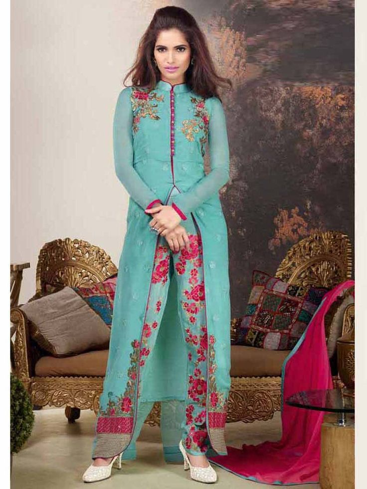 A sweet design to redefine contours of your style and elegance.  Item Code: SLHPV8601 http://www.bharatplaza.com/new-arrivals/salwar-kameez.html