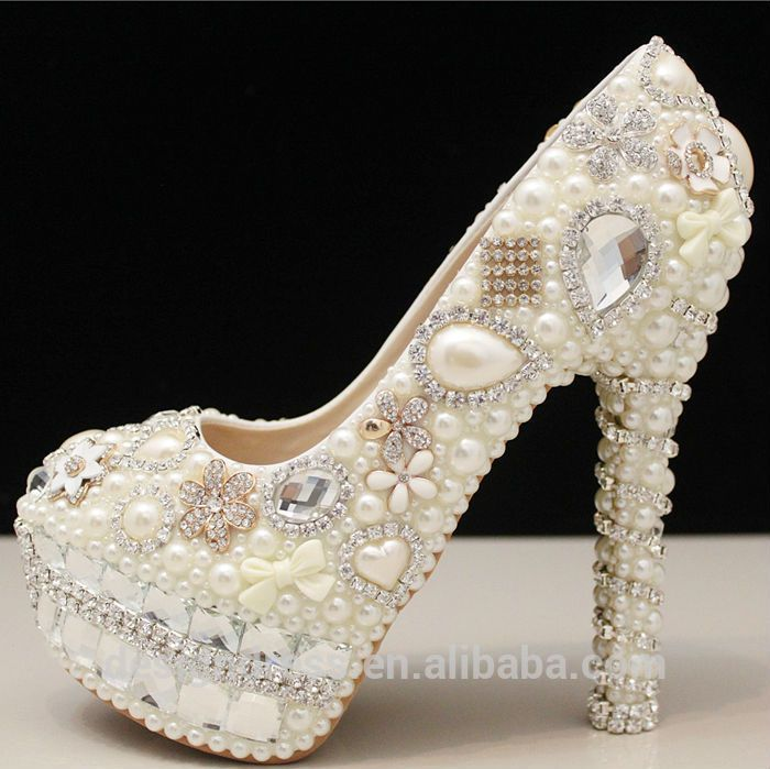 2014 New Design Crystal And Pearls High Heel Shoe Bridal Shoes  FOB Price: Get Latest Price Min.Order Quantity: 1 Pair/Pairs bridal shoes Supply Ability: 3000 Pair/Pairs per Month bridal shoes