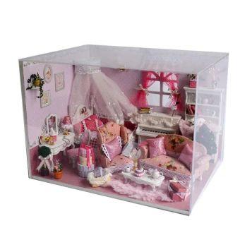 ซื้อเลย  CUTEROOM DIY House 3D Puzzle Wooden Building Villa with Dust CoverLED Light Doll Furniture for Girl Gift (Intl)  ราคาเพียง  2,199 บาท  เท่านั้น คุณสมบัติ มีดังนี้ Comes with the beautiful music and dust-proof Cartoon creative personality design Good choice as a present for child/friend/family Make yourself a fine arts and crafts Size:23.5*17.5*16.8cm