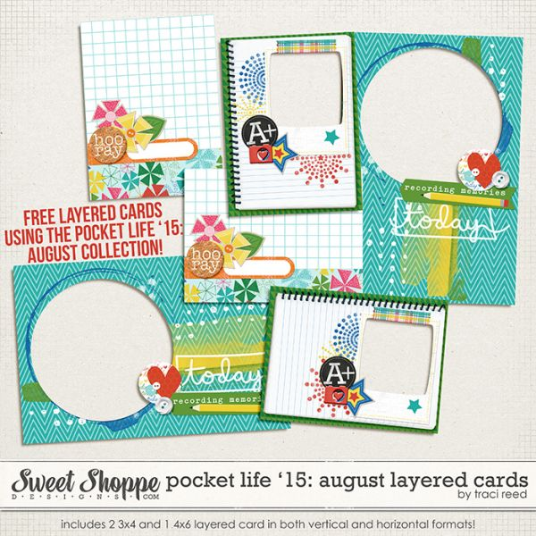 Pocket Life '15: August Collection by Traci Reed Designs – Plus a FREEBIE!