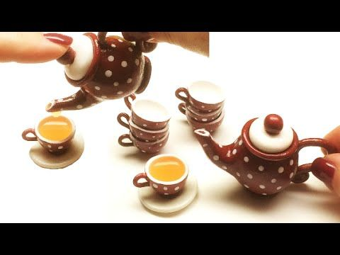Making a funcional teapot (Hollow) and teacup with polymer clay. Materials used in this project: - Polymer clay (Fimo soft) - Low melt enamelling powder (Efc...