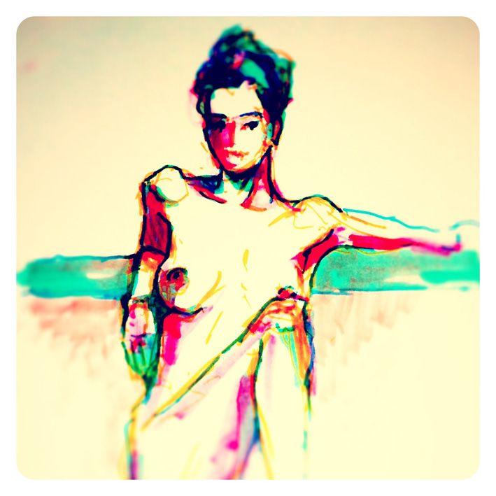 10 min pose in texta colour.