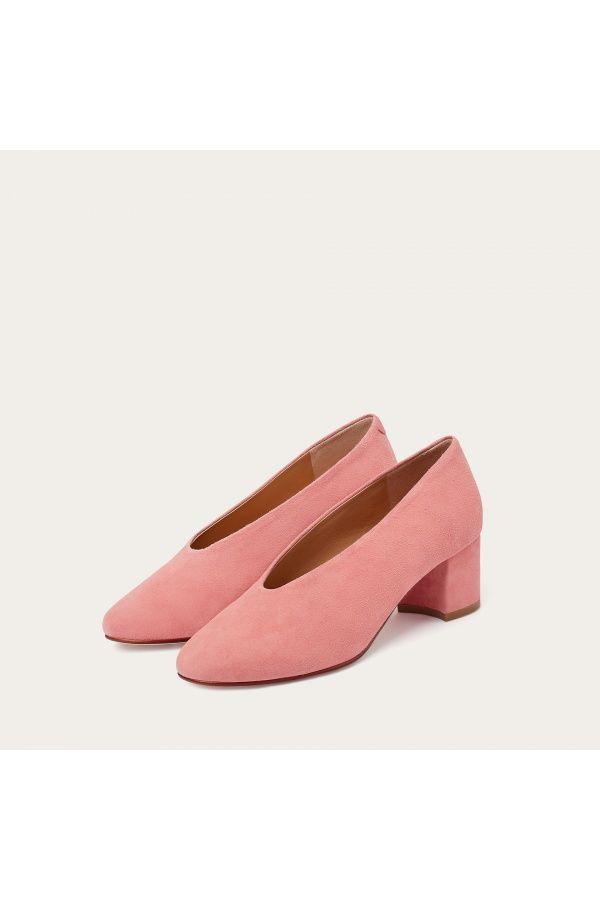 Leilot Rozowy Zamsz Balagan Studio Shoes Mule Shoe Fashion